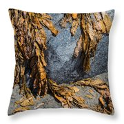 Seaweed On The Rock Throw Pillow