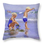 Seaweed Play Throw Pillow