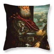 Sebastiano Venier Throw Pillow