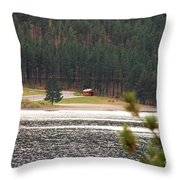 Secluded Cabin Throw Pillow