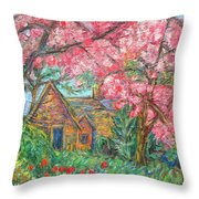 Secluded Home Throw Pillow by Kendall Kessler