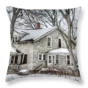 Secluded Old House Throw Pillow