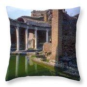 Second Century Villa Of Emperor Hadrian  Throw Pillow