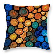 Second Chances - Abstract Art By Sharon Cummings Throw Pillow