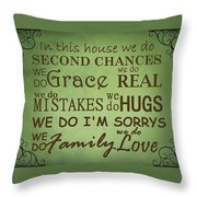 Second Chances In This House Throw Pillow