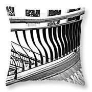 Second Floor In Black And White Throw Pillow