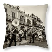 Second Line Monochrome Throw Pillow
