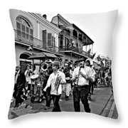 Second Line Parade Bw Throw Pillow