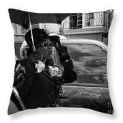 Second Line Peace Throw Pillow