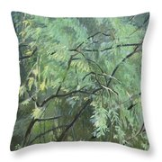 Second Puzzle Of Biotop Throw Pillow