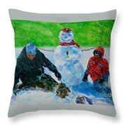 Second Snow Throw Pillow