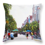 Second Sunday On King St. Throw Pillow