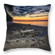 Seconds Before Potomac Sunrise Throw Pillow