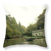 Secret Boathouse Throw Pillow