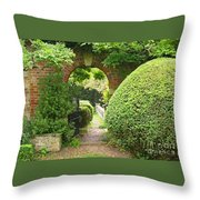 Secret English Garden Throw Pillow