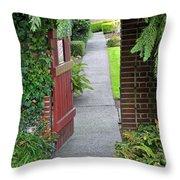 Secret Garden Door Throw Pillow