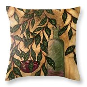 Secret In The Garden Throw Pillow