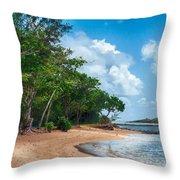 Secret Island Beach Throw Pillow