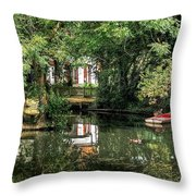 Secret Retreat - River Reflections Throw Pillow