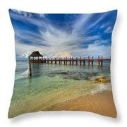 Secrets Aura Pier Throw Pillow