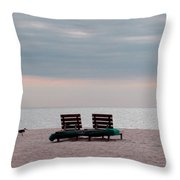 Secrets Of Yourself Throw Pillow by April Wietrecki Green