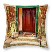 Secure Entrance Throw Pillow