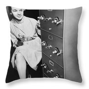 Secure Filing Cabinet Throw Pillow by Underwood Archives