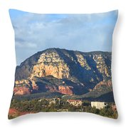 Sedona Arizona Panoramic Throw Pillow by Mike McGlothlen