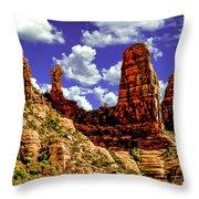 Sedona Arizona Red Rock Secret Mountain Wilderness Throw Pillow