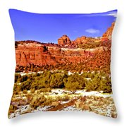 Sedona Arizona Secret Mountain Wilderness Throw Pillow