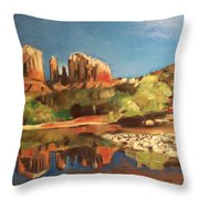 Sedona Cathedral Rock Throw Pillow