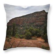 Sedona Landscape No. 2 Throw Pillow by David Gordon