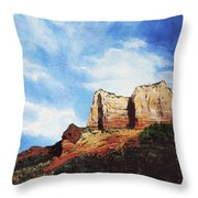 Sedona Mountains Throw Pillow