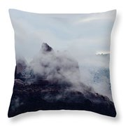 Sedona Rocks In Clouds 030315a Throw Pillow