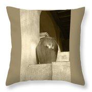 Sedona Series - Jug In Sepia Throw Pillow