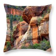 Sedona Stripes Throw Pillow by Carol Groenen