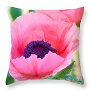 Seductive Poppy Throw Pillow