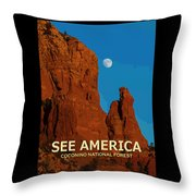See America - Coconino National Forest Throw Pillow