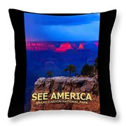 See America - Grand Canyon National Park Throw Pillow