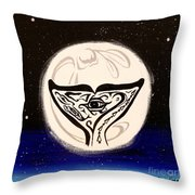 See Creature's Moon Throw Pillow