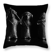 See No Evil Hear No Evi Speak No Evil 2 Throw Pillow