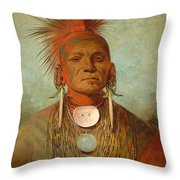 See Non Ty A An Iowa Medicine Man Throw Pillow