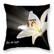 See The Light Throw Pillow by Gill Billington