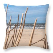 See Through On The Dutch Beach Throw Pillow