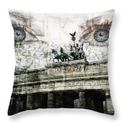 see you in Berlin Throw Pillow