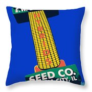 Seed Company Sign 1.3 Throw Pillow