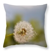 Seed Lift-off Throw Pillow