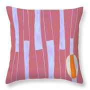 Seed Of Learning No. 4 Throw Pillow by Carol Leigh