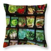Seed Packets Throw Pillow