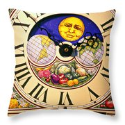 Seed Planting Clock Throw Pillow